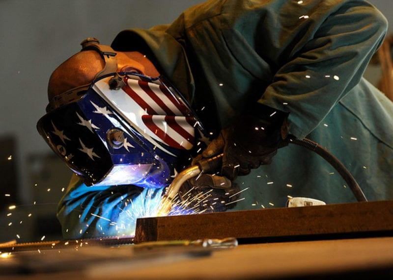 welder getting close to weld